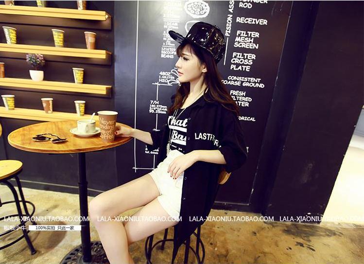 รับตัวแทนจำหน่ายเสื้อคลุมแฟชั่นเกาหลีแขนยาวสีดำเก๋ๆ