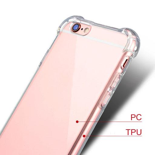 มุมหนา ขอบยาง TPU หลังแข็ง PC - เคส iPhone 6 / 6S