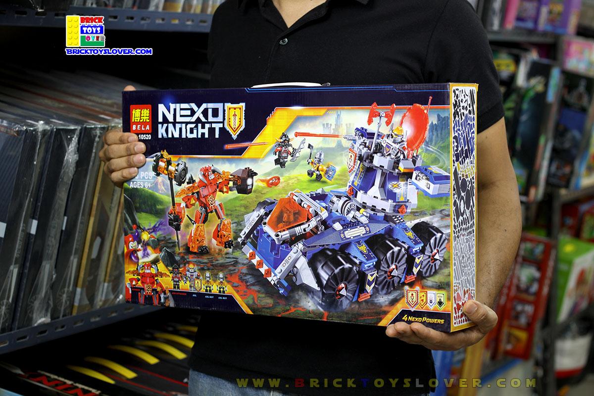 10520 อัศวิน Nexo Knights รถหอคอยเคลื่อนที่ของแอ็คเซิล Axl Tower Carrier