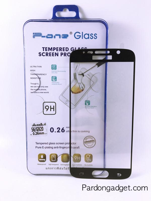 ฟิล์มกระจกเต็มจอ S6/G920 สีดำ