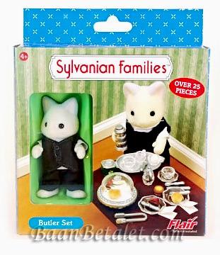 ซิลวาเนียน คุณพ่อแมวพร้อมชุดน้ำชา (UK) Sylvanian Families Butler Set