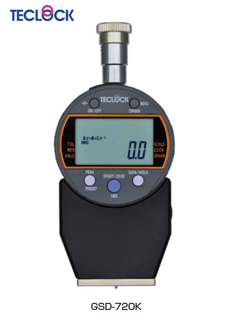 เกจวัดความแข็งยาง ดิจิตอล / Digital Durometer (GSD-720K) Teclock
