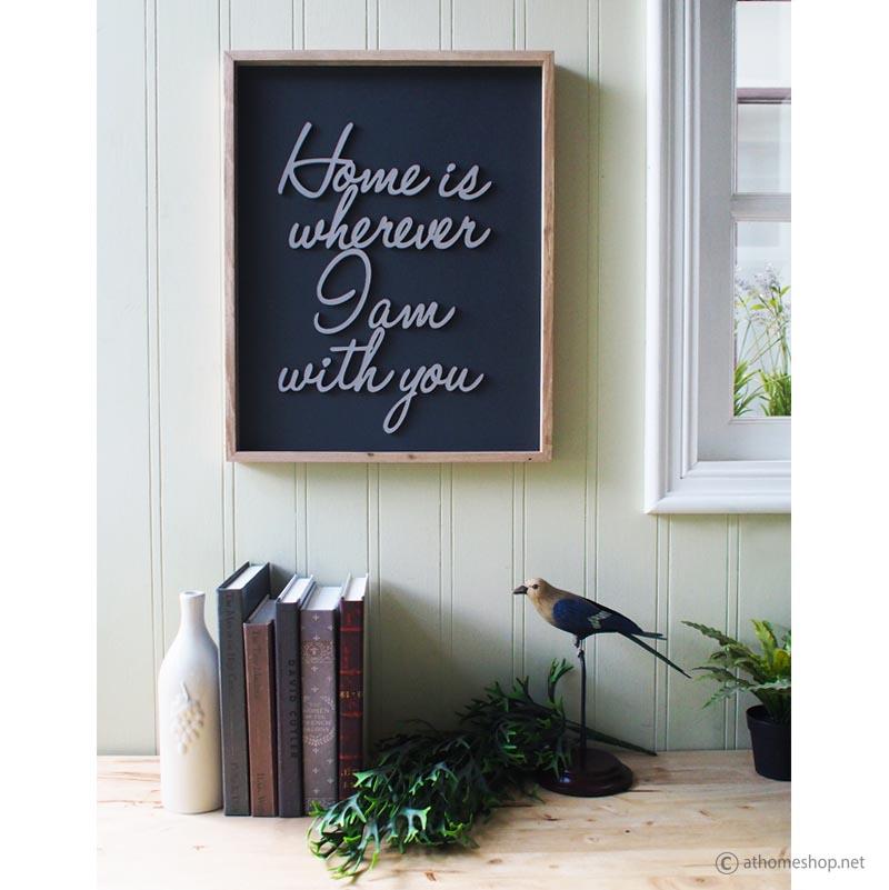 วอลล์อาร์ตแต่งผนัง Wall art sign - Home is