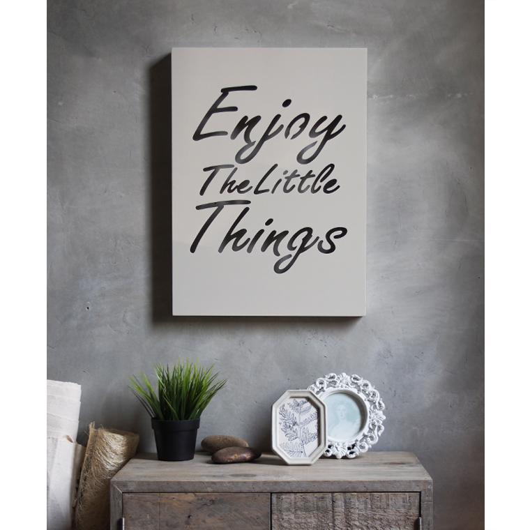 วอลล์อาร์ตฉลุคำ Enjoy the Little Things
