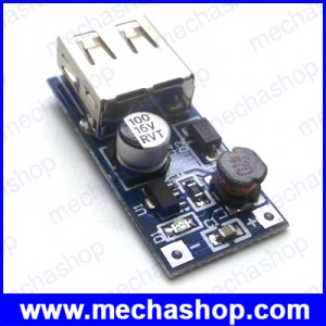 DC บูตเตอร์ คอนเวอร์เตอร์ Mini PFM Control DC-DC 0.9V-5V to USB 5V DC Boost Step-up Power Supply Module