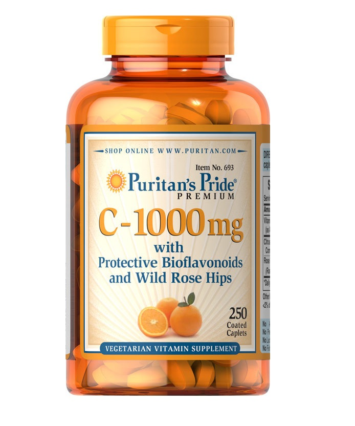 Puritan's Pride C-1000 mg with Bioflavonoids and Wild Rose Hips 250 Coated Cablets วิตามินซี 1000mg จากอเมริกาค่ะ