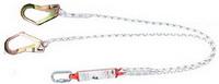 เชือกเซฟตี้ แบบสายถัก 2 เส้น 2 ตะขอใหญ่ พร้อมอุปกรณ์ดูดซับแรงกระชาก Yamada 2RA712 (Double Rope Lanyard Big Hook with Absorber)