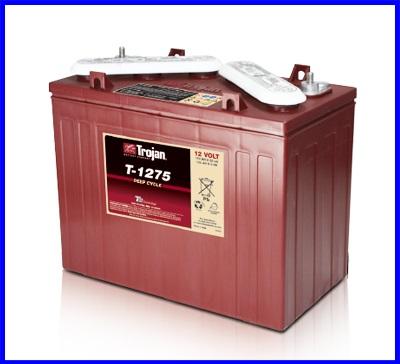 แบตเตอรี่ TROJAN แบตเตอรี่สำหรับการใช้งานระบบพลังงานทดแทน ชนิด Deep cycle battery 12V 150AH TROJAN T-1275