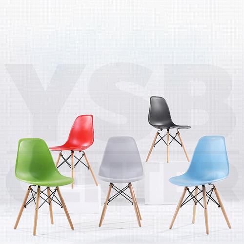CASSA เก้าอี้ ที่นั่งพลาสติกสไตล์โมเดิร์น ขาไม้บีช (สำหรับเด็ก) ขนาด 30x27x58 cm.