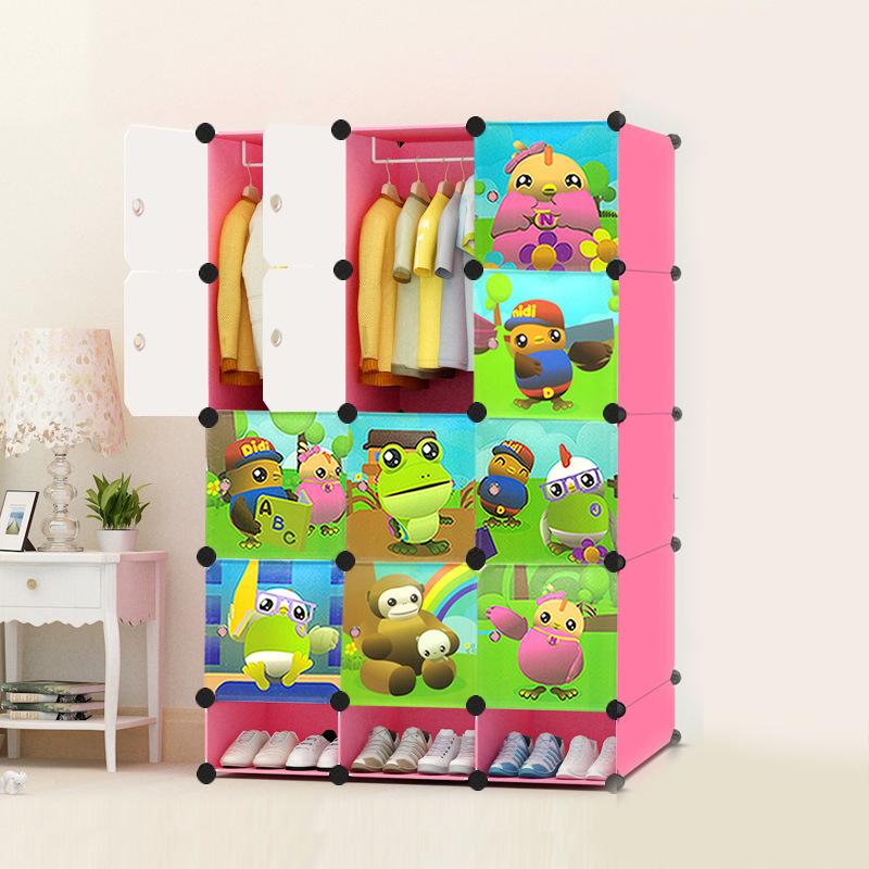 ตู้เก็บของ ตู้เสื้อผ้าเด็ก DIY ลาย Didi ดีดี้และเพื่อนๆ