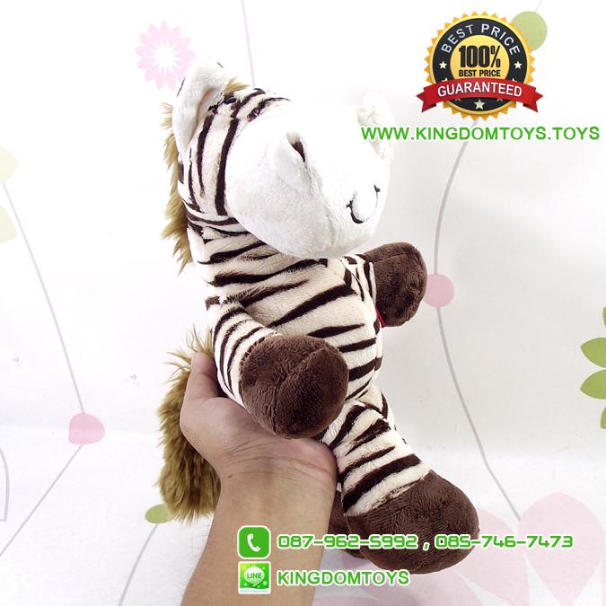 ตุ๊กตา ม้าลายน้ำตาลนั่งห้อยขา ขนนุ่ม 7.5 นิ้ว [Anee Park]