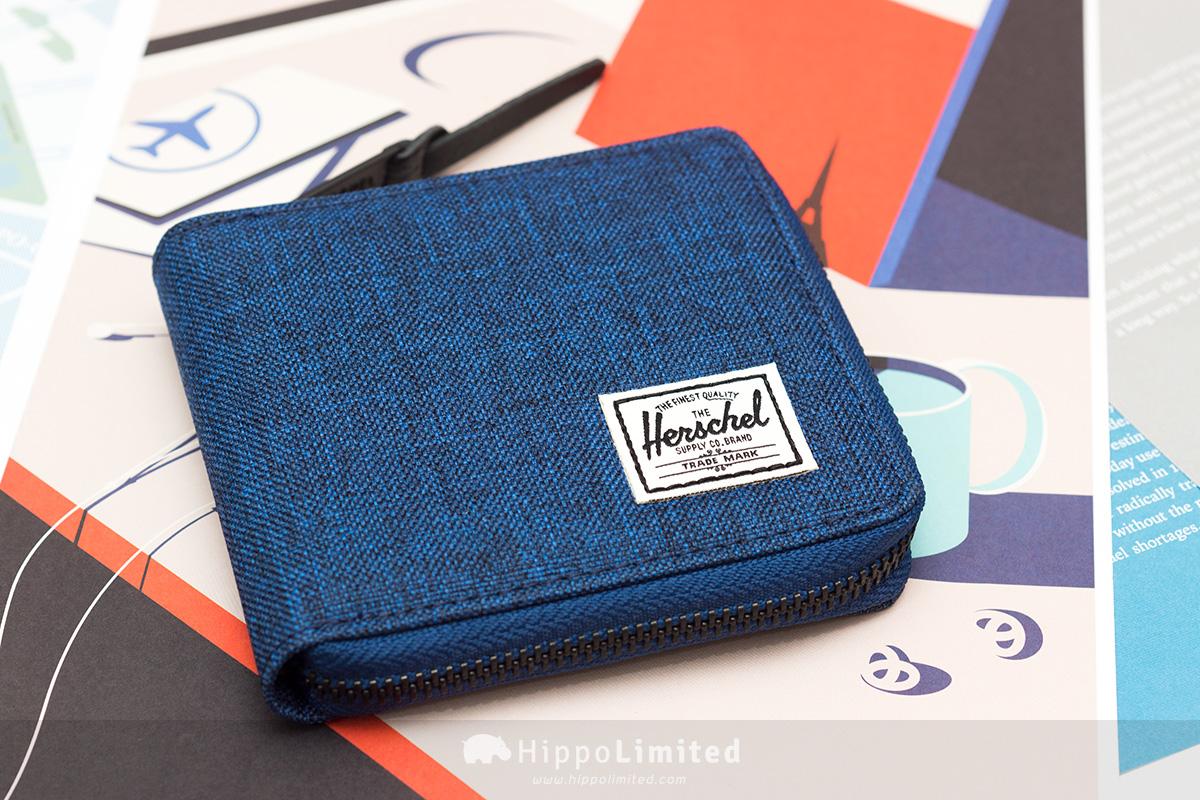 กระเป๋าสตางค์แบบซิปรอบ Herschel Walt Wallet - Eclipse Crosshatch