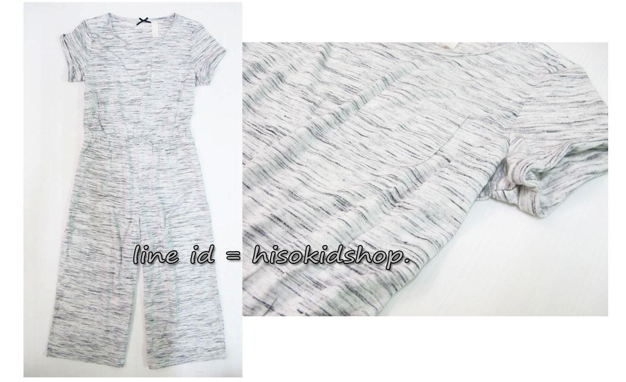 1823 H&M Jumpsuit - Grey จั้มสูทสีเทา ตัวนี้เก๋ไก๋มากค่ะ ขนาด 7-8,8-9 ปี
