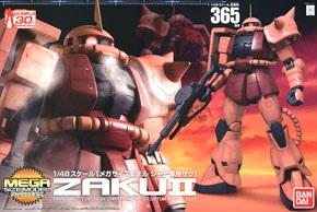 65663 Mega Size Model Char`s Zaku (1/48) 7800 yen