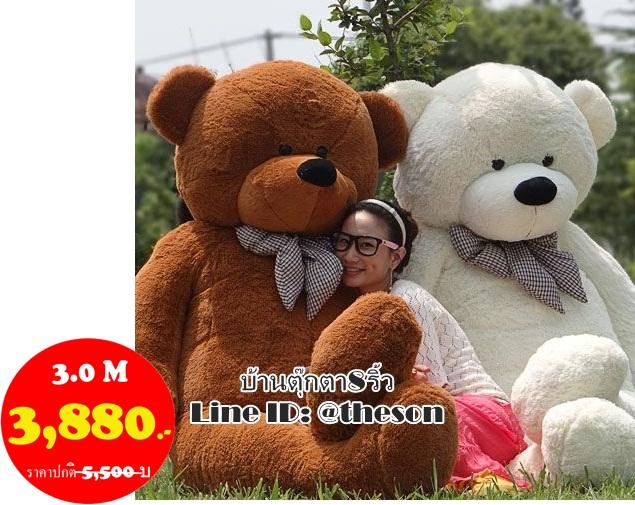ตุ๊กตาหมียิ้ม ขนาด 3.0 เมตร ไซส์พิเศษ