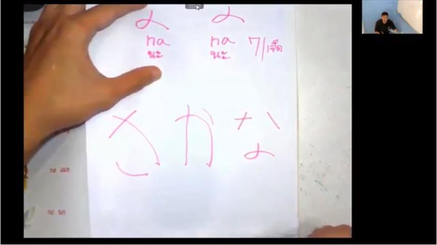 สอนภาษาญี่ปุ่นออนไลน์ (ครูไบท์) ฮิระงะนะ คาบที่ 7 เรื่อง จดจำคำศัพท์วรรค (Na) ตอนที่ 1/2
