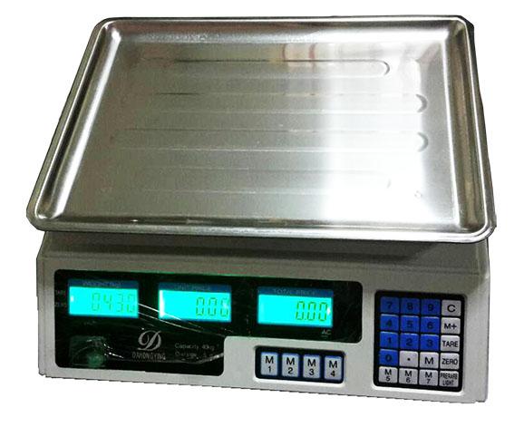 เครื่องชั่งดิจิตอล ตั้งโต๊ะ ถาดแสตนเลส 40KG ความละเอียด5G SCL303