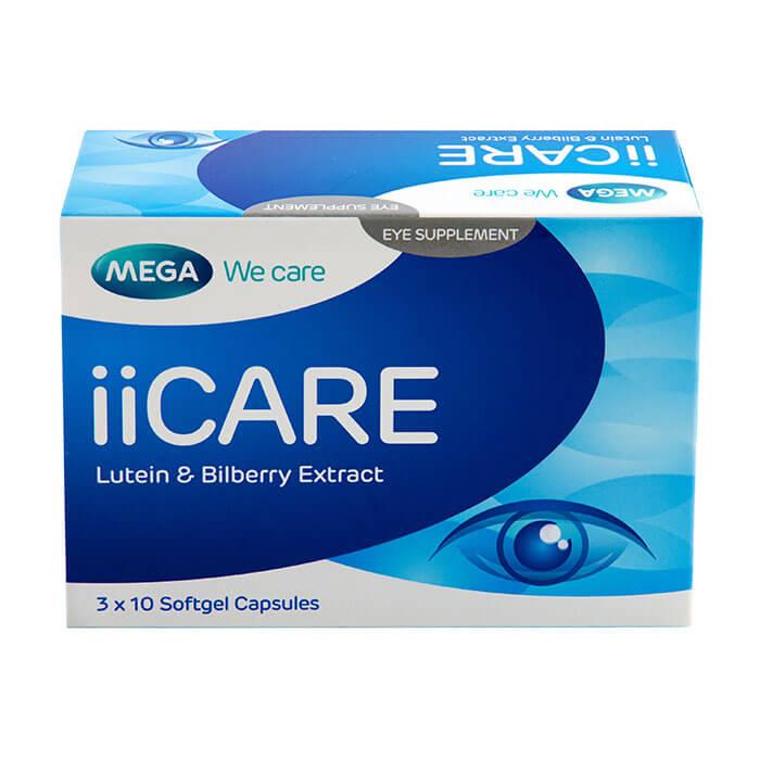 Mega We Care ii Care 30 เม็ด บำรุงสายตา ลดอาการเมื่อยล้ากล้ามเนื้อตา