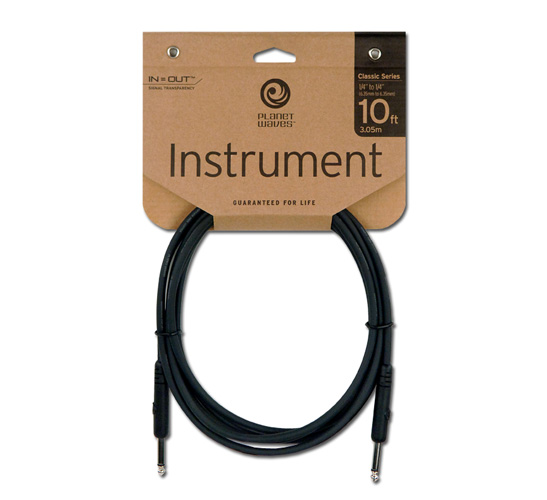 Planet Waves Classic Series Instrument Cable 10'