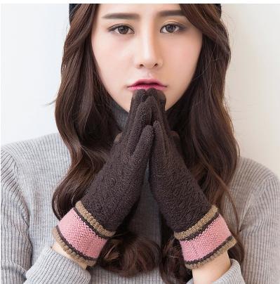 iWinter touch glove ถุงมือทัชกรีนได้ (ผู้หญิง/สีน้ำตาล)
