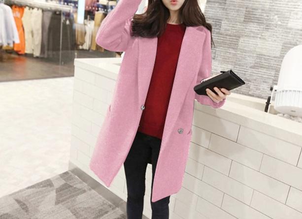 เสื้อโค้ท LOUSIMATE (สีชมพู)