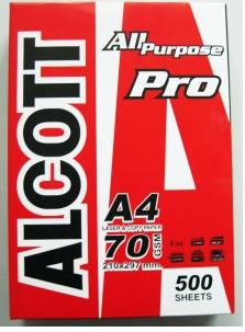 กระดาษถ่ายเอกสาร ALCOTT A4 70g Pro แดง