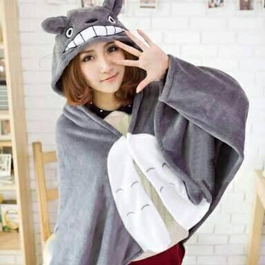 มีของพร้อมส่ง :: ผ้าคลุม Totoro มีหมวก