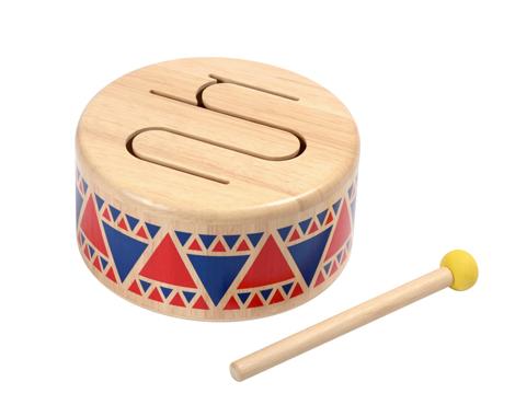 ของเล่นไม้ ของเล่นเด็ก ของเล่นเสริมพัฒนาการ Solid Drum กลองอินเดียนแดง (ส่งฟรี)