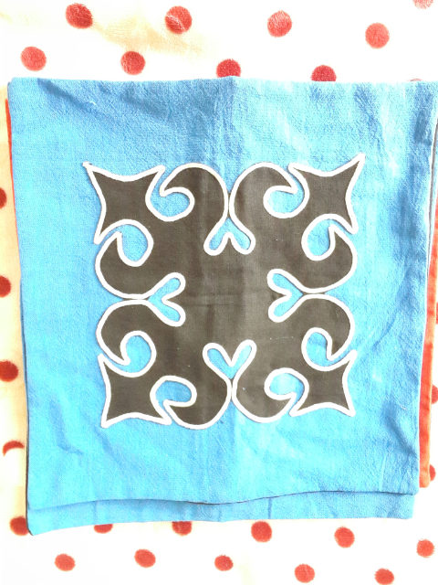 ปลอกหมอนอิง สีน้ำเงิน