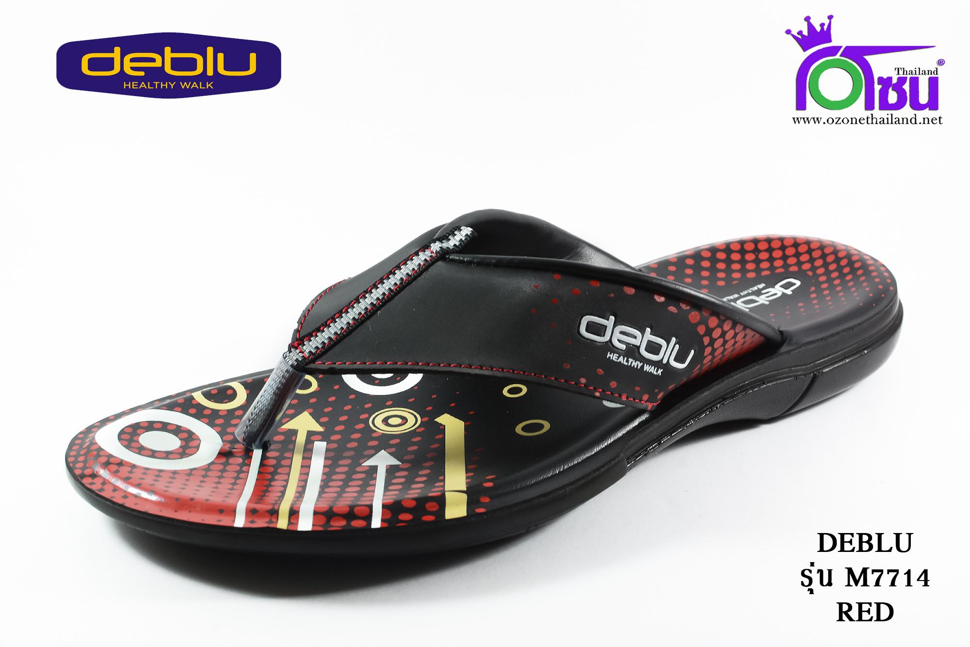 รองเท้าเพื่อสุขภาพ DEBLU เดอบลู รุ่น M7714 สีแดง เบอร์ 39-44