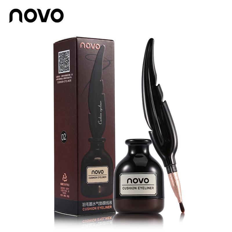 Novo Cushion Eyeliner อายไลน์เนอร์กันน้ำ เนื้อคุชชั่น ราคาปลีก 100 บาท / ราคาส่ง 80 บาท