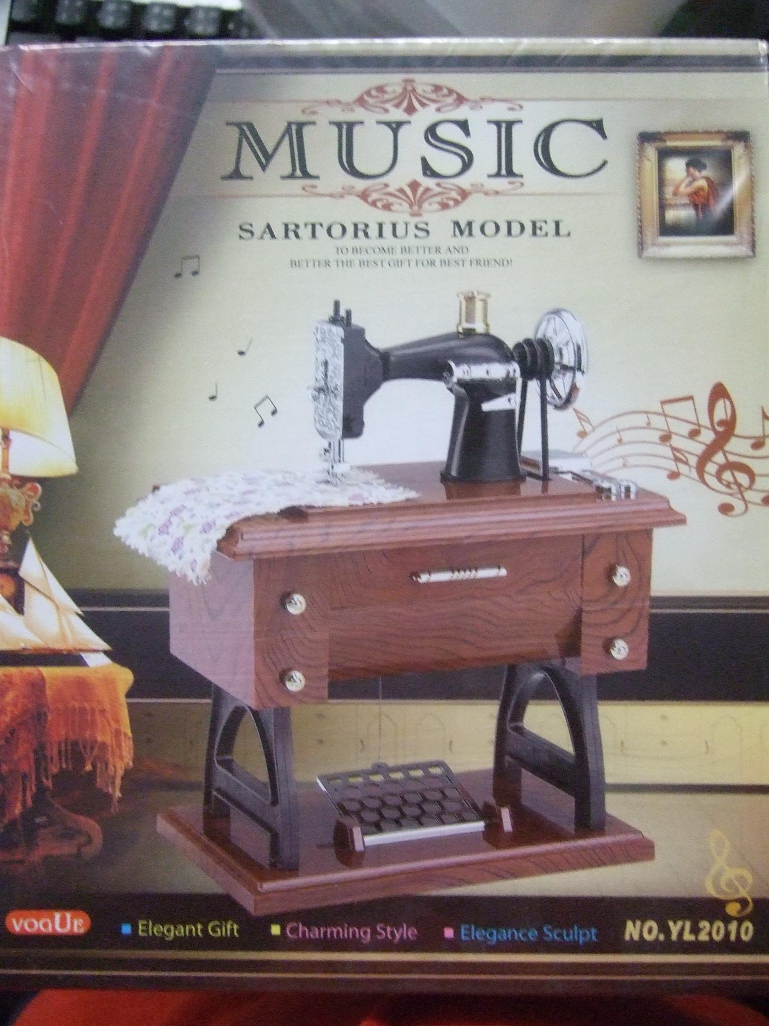 กล่องดนตรีจักรเย็บผ้า