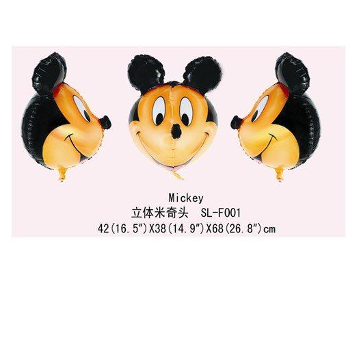 Mickey 3D Shape Foil Balloon - บอลลูนหน้ามิกกี้เมาส์ 3D / Item No. TL-B101