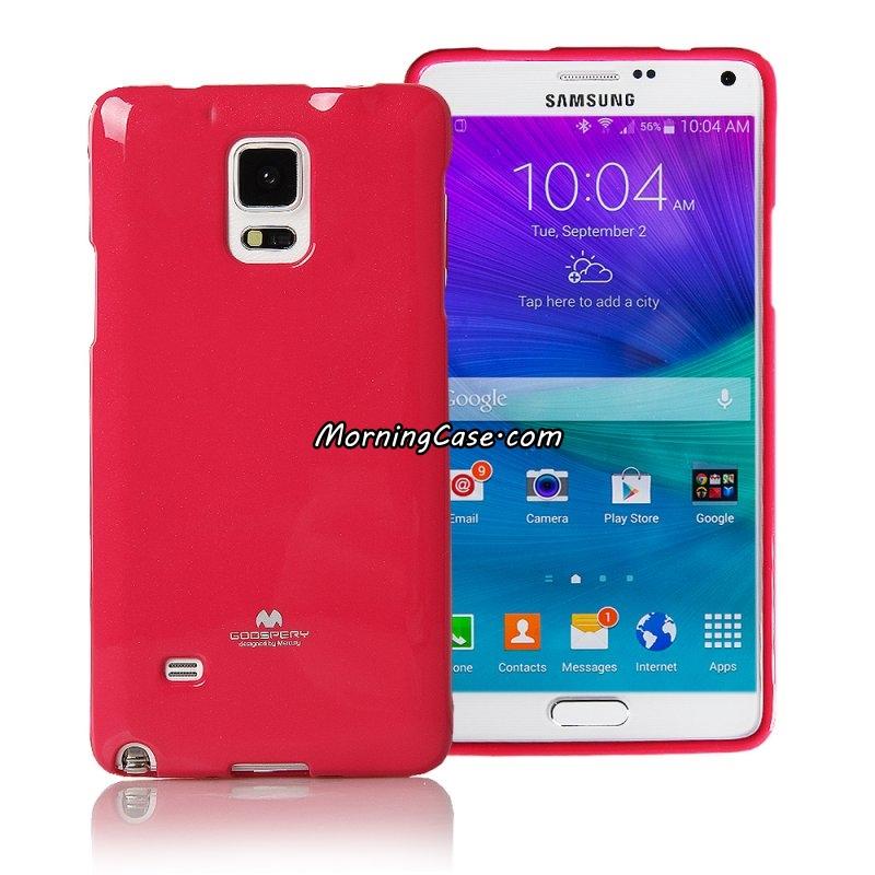 เคส Galaxy Note 4 แบรนด์ Mercury (Goospery) Jelly Case สีชมพูเข้ม