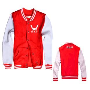 เสื้อเบสบอลB.A.P(สีแดง-ขาว)