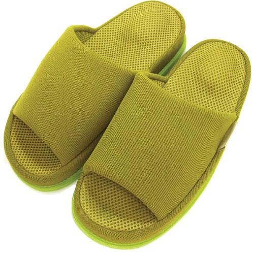 Refre OKUMURA Slippers สีเขียวเข้ม-ผู้ชาย (L) รองเท้าแตะเพื่อสุขภาพ