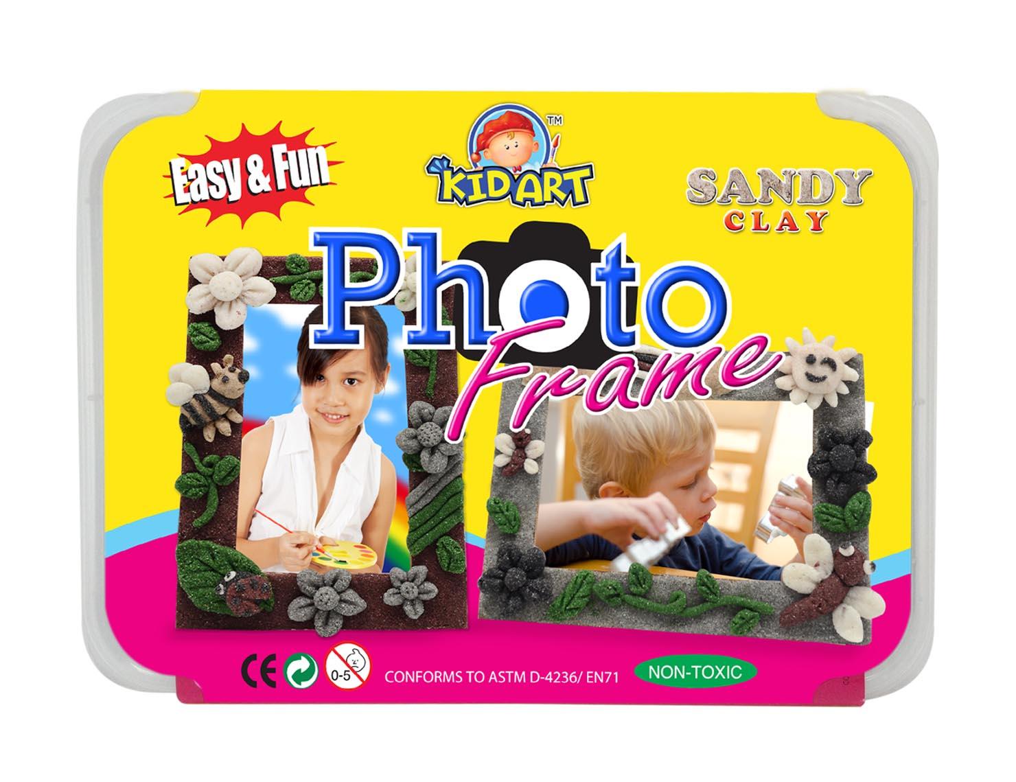 ชุดประดิษฐ์กรอบรูป ทรายปั้น ( D.I.Y Sandy Clay Colors- Photo Frame)