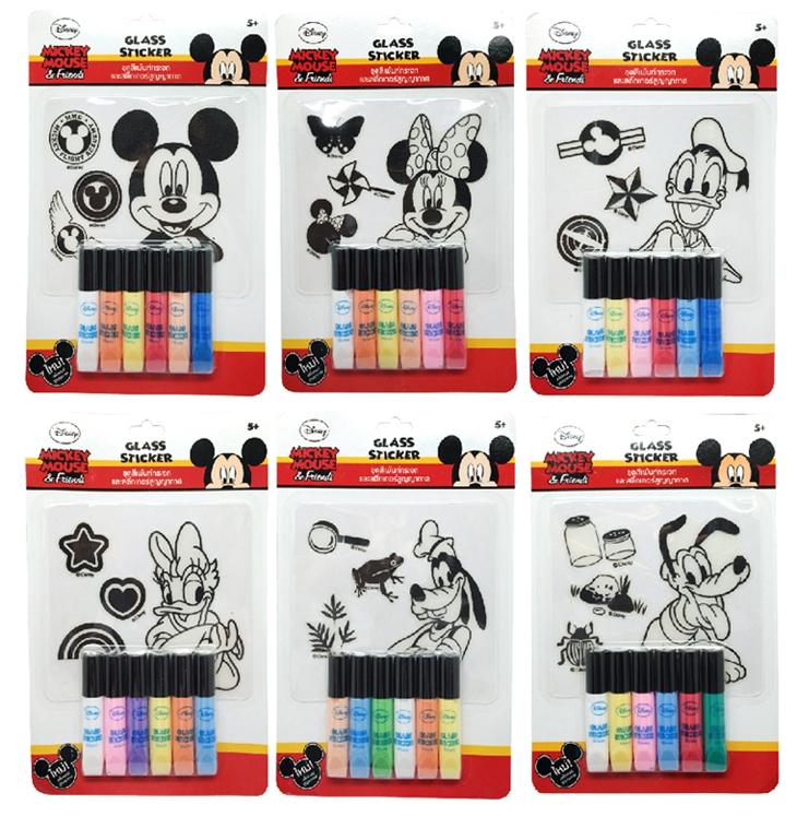 ชุดเพ้นท์สีเพนท์กระจกมิกกี้เมาส์ (Mickey Mouse Glass Sticker)