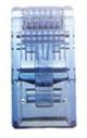 LINK CAT 5E RJ45 PLUG (ตัวผู้), Crystal BLUE บรรจุ 10 ตัว/Pkg