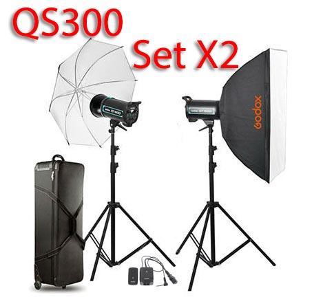 QS300 Set 300W X2 Professional Flash Godox Studio Kit ชุดแฟลชสตูดิโอ