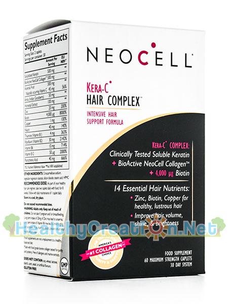 Neocell Kera C Hair Complex บรรจุ 60 เม็ด ส่งเสริมประสิทธิภาพของเส้นผม ช่วยลดปัญหาการร่วงและการเสียสุขภาพของเส้นผม