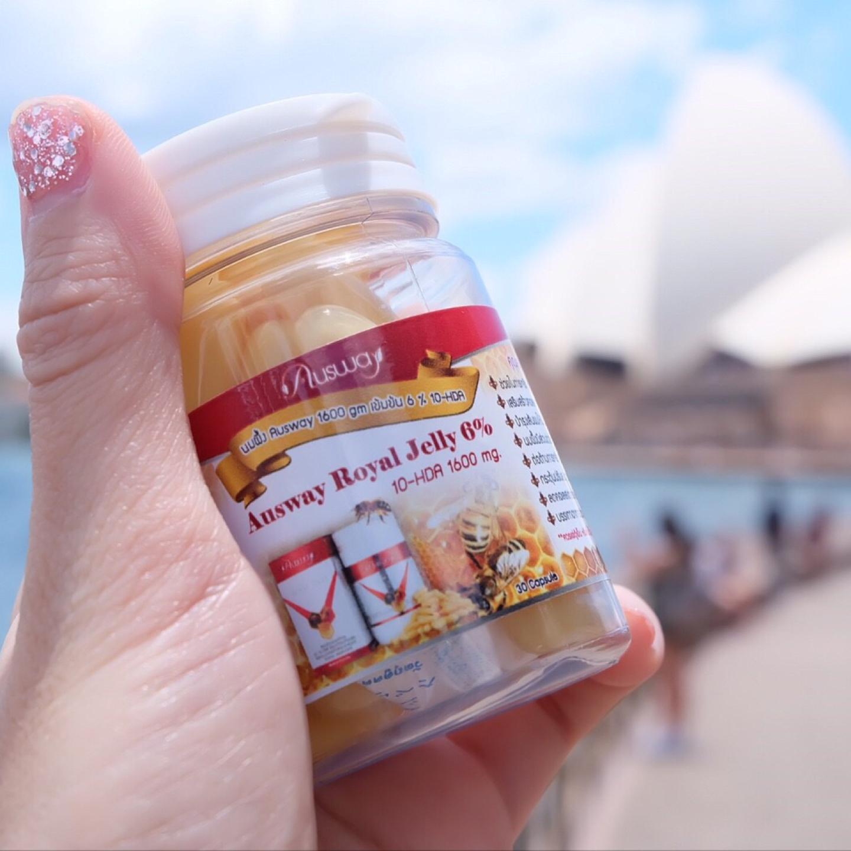 Ausway Royal Jelly 6% 1600 mg นมผึ้งออสเวย์ 30 แคปซูล