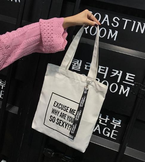 กระเป๋าผ้า LD002 White