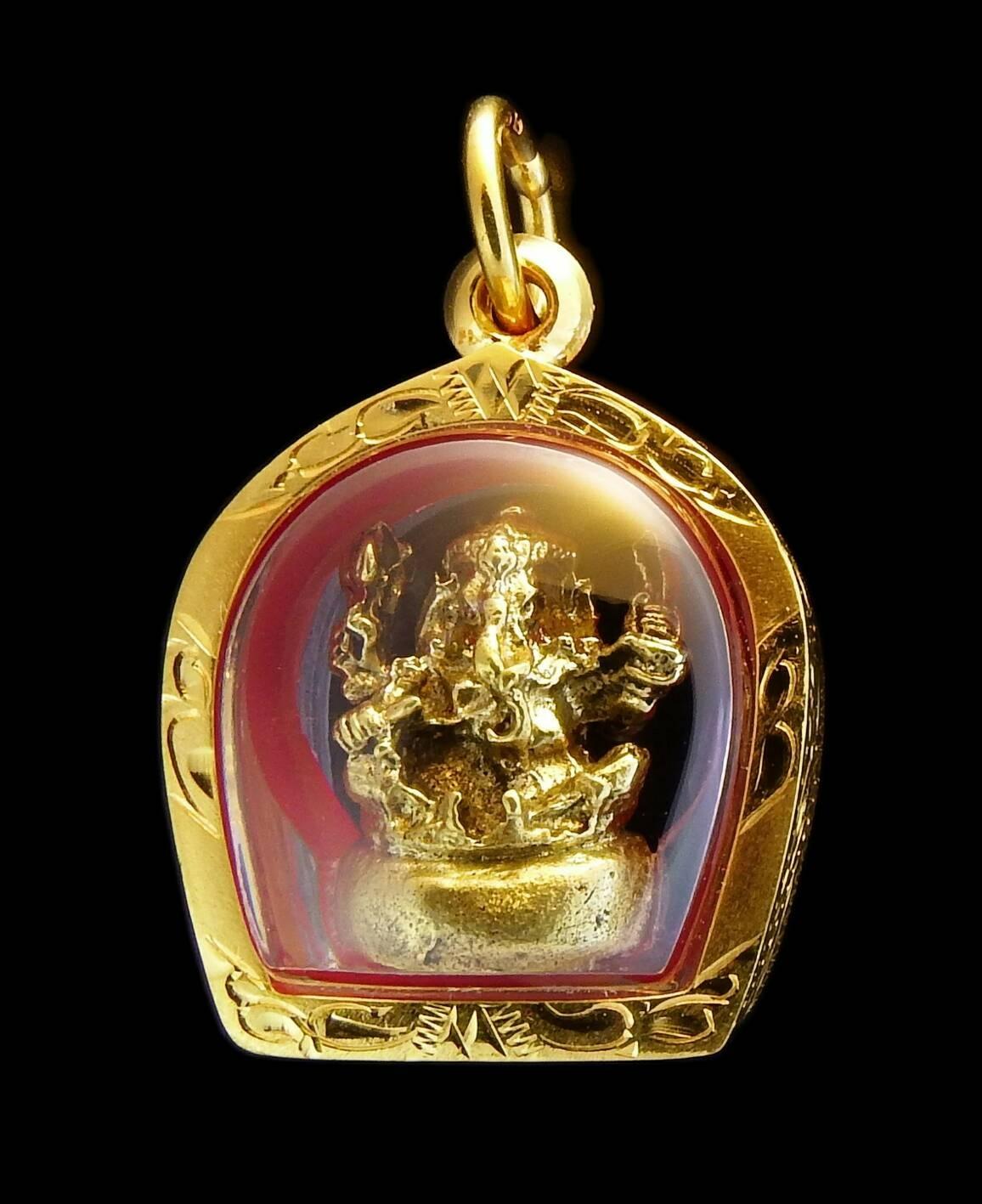 จี้พระพิฆเนศองค์ทองเลี่ยมกรอบทองแท้ 96.5% หนักรวม 6.22 กรัม