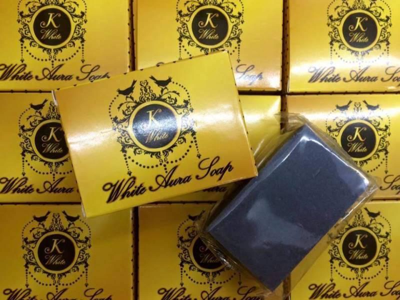 White Aura Soap สบู่สครับผิวชาร์โคล by K White