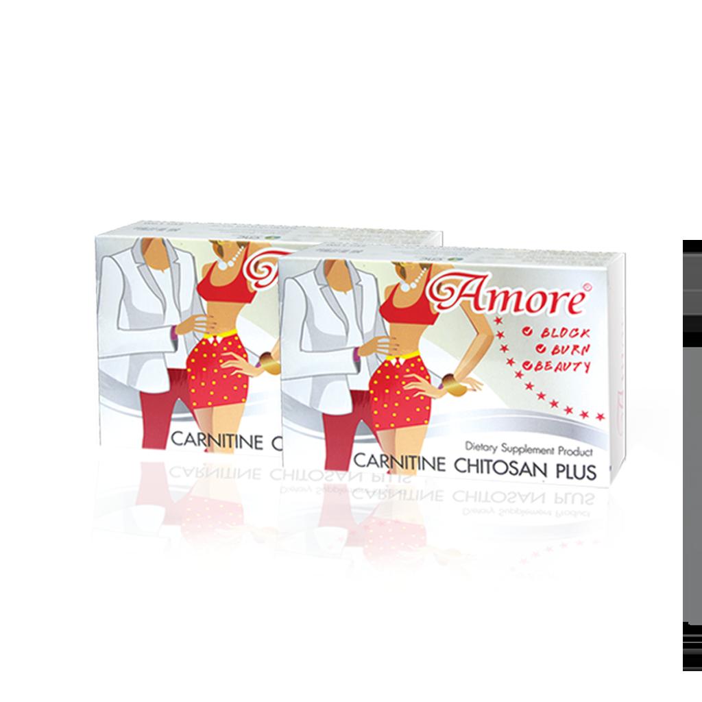 Amore Carnitine Chitosan Plus 2 กล่อง