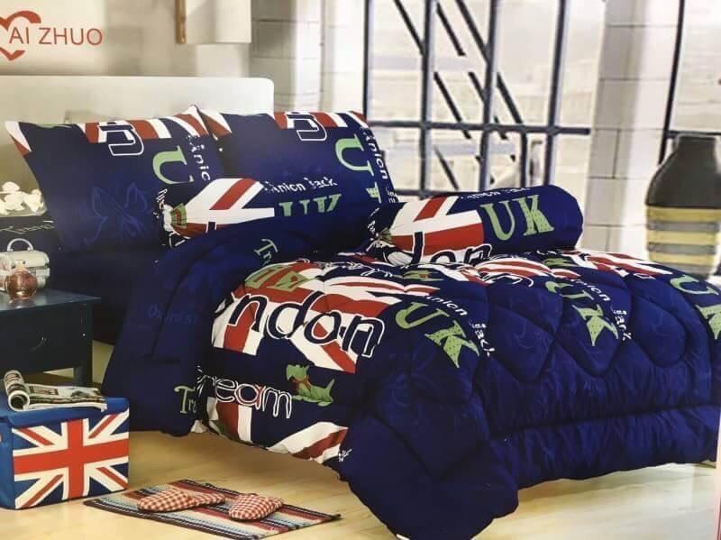 ชุดผ้าปูที่นอนลายธงชาติ ขนาด 6 ฟุต, 5 ฟุต, 3.5 ฟุต