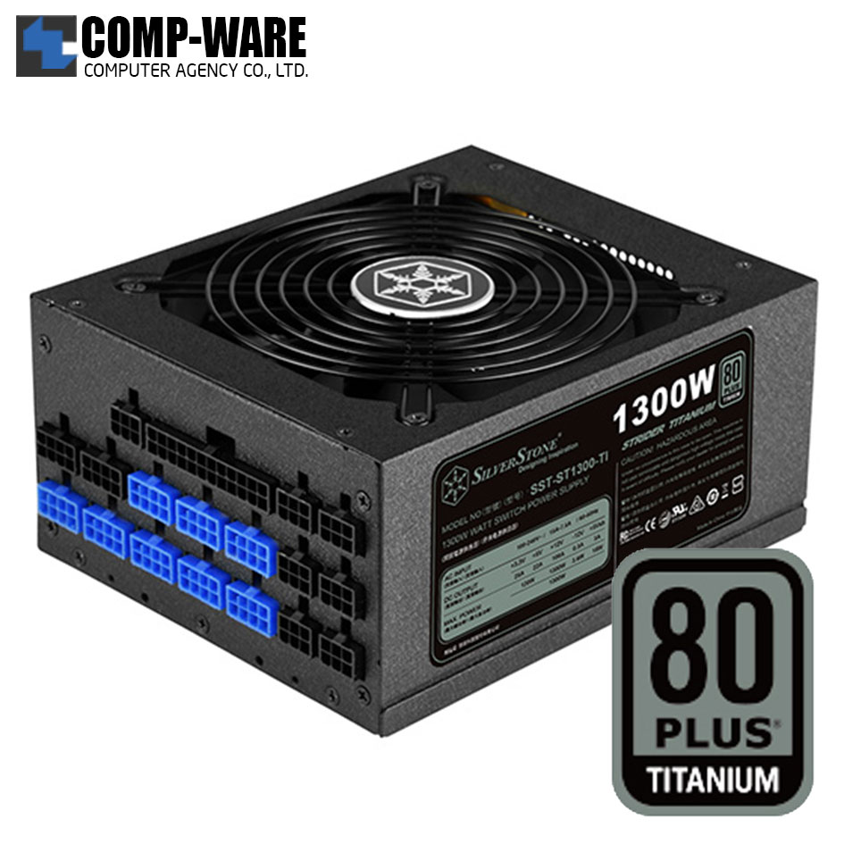SilverStone Strider ST1300-TI 1300Watt 80Plus Titanium ATX Power Supply