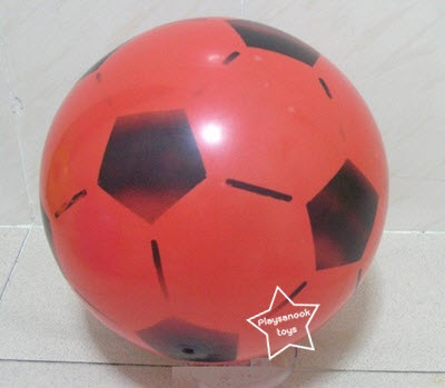 PS-1207 ลูกบอลยาง(สูบลมได้)7-8นิ้ว ลูกละ