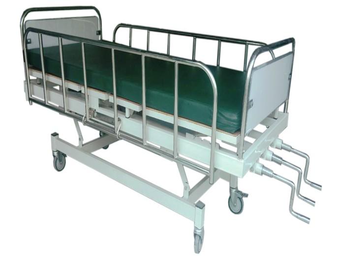 PS.17 เตียงผู้ป่วย 3 ไกร์มือหมุน พื้นไม้ สเปก รพ.